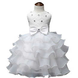 Wholesale Girls Dresses For Events - 2016 Baby Christening Girl Dress Kids Ruffles Lace Dresses For Girls Princess Tutu Dress For Wedding Party Events Wear Girls