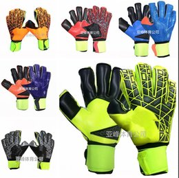 Wholesale Fashion Professionals - Brand AD Logo Professional Soccer Goalkeeper Gloves New Best quality Finger Ptotection Top Latex football Goalie Gloves for Men 5MM Latex