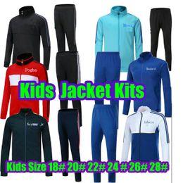 Wholesale Kids Orange Jacket - 2017 2018 Real Madrid Kids Jacket Kit 2017 2018 MESSI POGBA DBYBALA HAZARD Tracksuit 2017 2018 NEYMAR JR Spain kids tracksuit