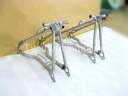 Fourche arrière en Ligne-Fourche Triangel Arrière Titanium TC4 480g / pc pour vélo pliant Brompton