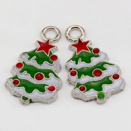 Wholesale Enamel Christmas Tree - Hot ! 120pcs Green ENAMEL Christmas tree Charm Pendant 15x 26 mm DIY Jewelry