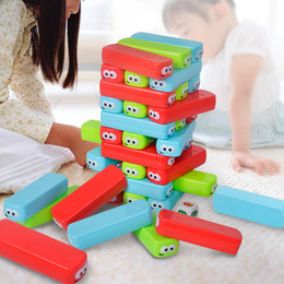 Wholesale Toddler Stacking Toys - 30 PCS Baby Rainbow cuboids Stacker Toys Plastics Game Family Fun Building Block Jenga Set Up the Infinite Possibility Stacking Toddlers Toy