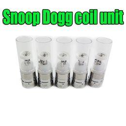 Wholesale E Cigarettes Mouth Pieces - Snoop Dogg E Cigarettes Vaporizers 510 thread atomizer Heat coil unit + Glass no metal mouth piece DHL free