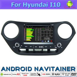 Wholesale Car Stereo Tv Hyundai - Android Car Dvd In Car Audio Video System for Hyundai I10 Quad Core with GPS RDS Radio BT Wifi 3G Stereo Mirror-Link