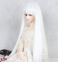 Wholesale Bjd Wig Black - New The BJD Doll Wig From The Chinese Mainland Machine Is A Black Silver-white Plastic Cosplay