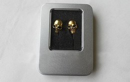 Wholesale Performance Retail - High Performance Metal skull headphone in ear earbuds skull earphones silver gold color 3.5mm with retail box Wholesale
