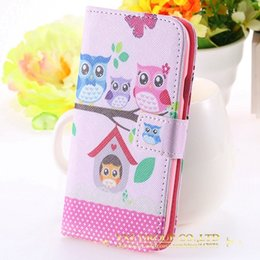 Wholesale S3 Case Bird - Wholesale-Owl Lovely Flip Leather Case for Samsung S3 SIII i9300 Wizard Bird Accessories Crown Cover Cute Cases for Galaxy S3 Wallet Stand