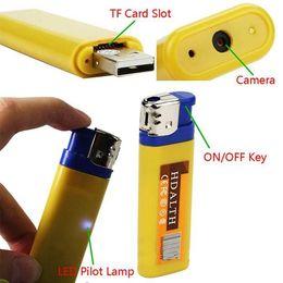 Wholesale Hid Blue - Mini camera DVR mini lighter camcorder yellow blue Spy Cameras DV Camera Hidden Camera vedio recorder listening device