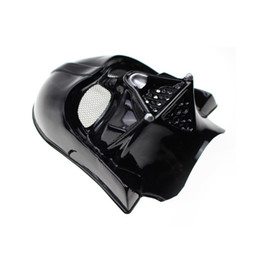 Wholesale Cheap Costumes For Halloween Wholesale - 2 Colors Darth Vader Imperial Warrior Mask Halloween Costume Theater Props Black White Star Wars Cheap Novelty Plastic Party Masks WI84
