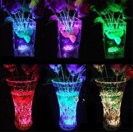 Wholesale Led Candle Bulb Remote - Holiday Light remote controlled submersible led lighting Multicolor 10 led bulb for Wedding Party waterproof Candle Lights Decoration Lamp