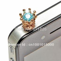 Wholesale Dustproof Plug Crown - Wholesale-High quality!! Gold Silver Bridal Crown Rhinestone dustproof crown Dust plug