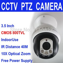 Wholesale Speed Dome Bracket - High Quality CMOS Mini Middle Speed Dome PTZ Camera 800TVL 10X ZOOM Night CCTV Camera Security Free Power and Ceiling Bracket