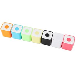 Wholesale Small Speakers For Mobile - Mini Square Bluetooth Speaker Smart Box Portable Handfree Colorful Small Outdoor Sound Box 7 Colors Available DHL Free MIS120