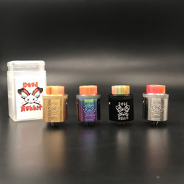 Wholesale Rabbit Colors - Clone Dead Rabbit RDA Atomizer Stainless Steel Aluminum Material Support Both Single and Dual Wire Vaporizer Fit 510 Mods Vape 8 Colors DHL