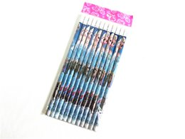 Wholesale Stationery Pencil For Children - 2015 Frozen Fever Pencils Stationery Set Anna Elsa School Supplies Pencils and Eraser 2 in 1 19cm for Kids Children Boys Girls Toys Gift DHL