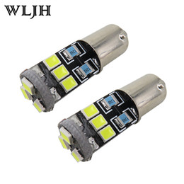 Wholesale Ba9s Led H6w - WLJH White Canbus BA9S T4W LED For Samsung 2835SMD H6W 12V Lamp Lighting Car Bulb Interior Light Indicators Parking Light Lampadina