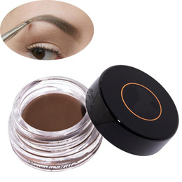 Wholesale Eyebrow Cream - 2017 New Eyebrow Pomade Eyebrow Enhancers Makeup Eyebrow 8 Colors With Retail Package free shipping