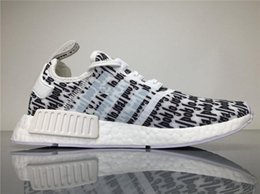 Wholesale Hunting Tops - Top Quality Originals Nmd Runner Fear of God X NMD BA7247 Sneakers Men FOG Running Shoes NMD Runner with Retail Box Boosts