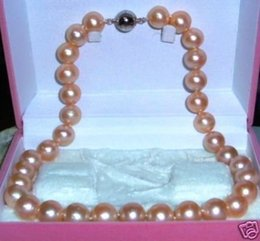 Wholesale Tahitian Pink Pearl Necklace - Wholesale-Tahitian AAA+ 9-10mm pink pearl necklace 18""