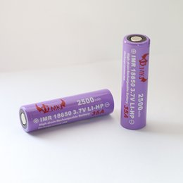 Wholesale Lithium Ion Battery For Tool - 100% High Drain 35AH 18650 2500mAh 3.7V Rechargeable Lithium ion Battery cell for E-cigarettes Flashlights Electric Tools