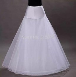 Wholesale Net Wedding Petticoats - Hot Seller In Stock 1 Hoop Tulle Netting A-Line 2 Tier Floor Length Style Bridal Petticoats for White Wedding Dresses