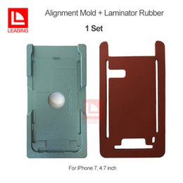 Wholesale mold for repairing iphone - LCD Display Repairing Tool Alignment Mold + OCA Lamination Rubber Pad For iPhone 6 7 7P Plus iPhone 8 8P Cracked Glass Replacement