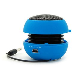 Wholesale Mini Hamburger Portable Speaker - New Arrival High Quality Portable Mini 3.5mm Hamburger Speaker Rechargeable For iPhone Laptop Tablet PC