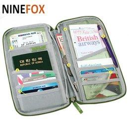 Wholesale Purse Closures - 2018 Portable Full Closure Zipper Travel Passport Credit ID Card Holder Cash Wallet Organizer Bag Purse Wallet