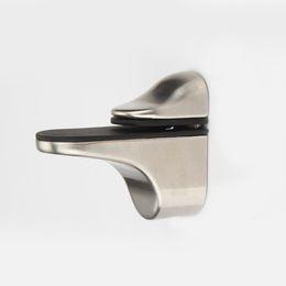 Wholesale Bathroom Glass Shelves - 1pcs Adjustable Brush Finish Metal Shelf Holder Support Clamp For Bathroom Glass Wood Shelves Panel, dandys