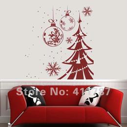 Wholesale Tree Vinyl Free - Free Shipping Beautiful Christmas Tree Pattern Home Decor DIY Removeable Wall Sticker