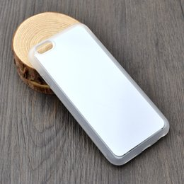 Wholesale Iphone Rubber Diy Sublimation Case - 2D Rubber TPU DIY sublimation case for Iphone 4 4s 5 5s se 5c iphone 6 6s 7 with aluminium metal sheet Glue 20pcs lot