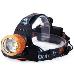 Wholesale Cycle Headlamp - TOP quality Boruit 2000 Lumens Cree XM-L T6 Zoomable LED Headlamp Rechargeable Headlight Cycling Light + Charger Free Shipping