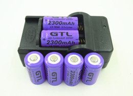 Wholesale Digital Batteries Charger - 6pcs CR123A 16340 Batteries 3.7V 2300mah Rechargeable Battery+16340 AC Charger for LED Flashlight   Digital Camera   Laser pen Free Shipping
