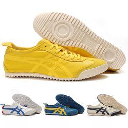 Asics оригиналы Onitsuka Тигр овчины Мексика 66 конкурентоспособные спортивные мода кроссовки мужские дешевые сапоги скидка кроссовки размер 36-45 cheap sheepskin boots shoes от Поставщики обувь из овчины