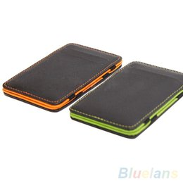Wholesale Card Holders Magic - Mens Fashion Faux Leather Magic Credit Card Id Money Clip Slim Wallet Holder 1T1J
