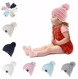 Wholesale Cable Knit Beanie Hat Wholesale - Kids CC Trendy Beanie CC Knitted Hats Chunky Skull Caps Winter Cable Knit Slouchy Crochet Hats Fashion Outdoor Warm Oversized Hats B11