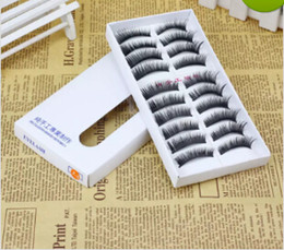 ciglia più lunghe della ragazza Sconti 10 paia / set New Lady Girl Fashion Handmade naturale Make Up Long Ciglia finte Donne fatte a mano a buon mercato False Eye lash