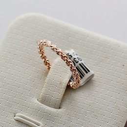 Wholesale Rose Jewelry Rings - Free Shipping Italina Rigant Brand Zinc Alloy Jewelry Band Rings Rose Gold Plated Simple Designed Woven Style Rings