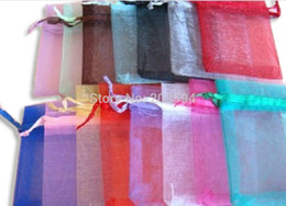 Wholesale Organza 9x12 - HDYU! Free Shipping,Drawable Organza Bags 9x12 cm,Wedding Gift Bags,Jewelry Packing Bags,Wedding Pouches,Multi-Colors 100pcs lot