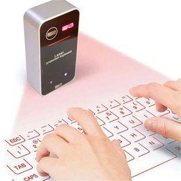 Laser portátil on-line-Novo teclado de projeção a laser virtual bluetooth com função mouse para smartphone pc portátil teclado sem fio portátil