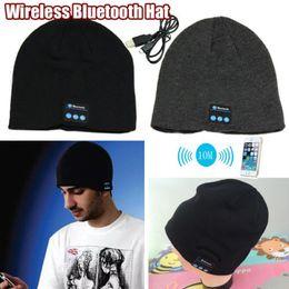 Argentina Venta al por mayor-Libre Nueva moda 2015 Cálido Beanie Hat Wireless Bluetooth Smart Cap Auricular Auricular Altavoz Micrófono supplier headphone beanie wholesale Suministro