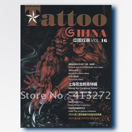 Wholesale Painting Magazines - Wholesale-China's grain painting 16 period latest tattoo manuscript magazine tattoo design book set artist necessary tools