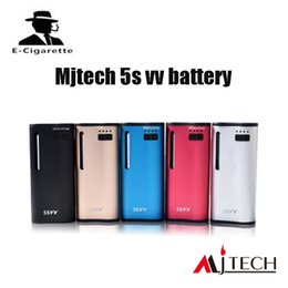 Wholesale Electronic Cigarette Dhl Free Shipping - Autherntic Mjtech 5S VV Box Mod built-in 650mAh battery Twist Electronic Cigarette with Wax 100% Original DHL free shipping