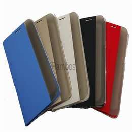 Wholesale Huawei Ascend Honor Cases - Creative Smart Side Window View Flip Leather Case Cover for Huawei Ascend P7   P8   P8 Lite   Mate 7   Honor 6 Plus   Honor 4x