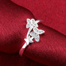 Wholesale Nice Gift Set - Girls Cute Finger Rings 2015 New Jewelry 925 solid silver #7 #8 Option r655 nice gift Free R654 Best Quality