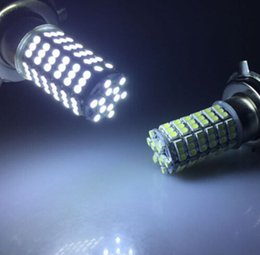 Wholesale Front Light Bmw - 2pcs H4 120 SMD 3528 Car LED Front Fog Headlight Lamp High Beam 12V White Car Light Led Bulb