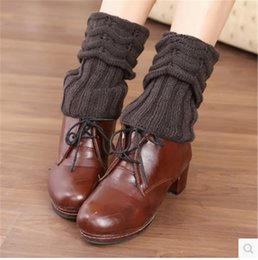 Wholesale Formal Boots - Wholesale-Fashion pinstripe leg warmers for women knit leg warmers warm leg warmers over the knee boots socks feet socks