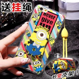 Wholesale Despicable Iphone Casing - With lanyard! Despicable ME2 cartoon creative iPhone6plus phone shell mobile phone cases Apple 6   5s protective cases children Gifts