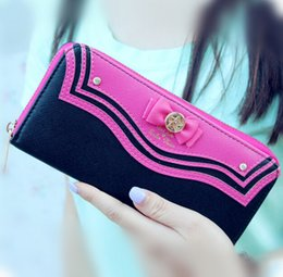Wholesale Photos Moon - hot sale 2017 New Samantha Vega Sailor Moon Ladies Long Zipper Female Bag Women Leather Wallet Purse