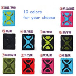 Wholesale I Pad Cases Covers - PEPKOO Spider Shockproof Dirtproof Defender Military Case Cover for Ipad2 Ipad3 Ipad4 Ipad 2 3 4 iPad Air 2 i Pad Mini Retina